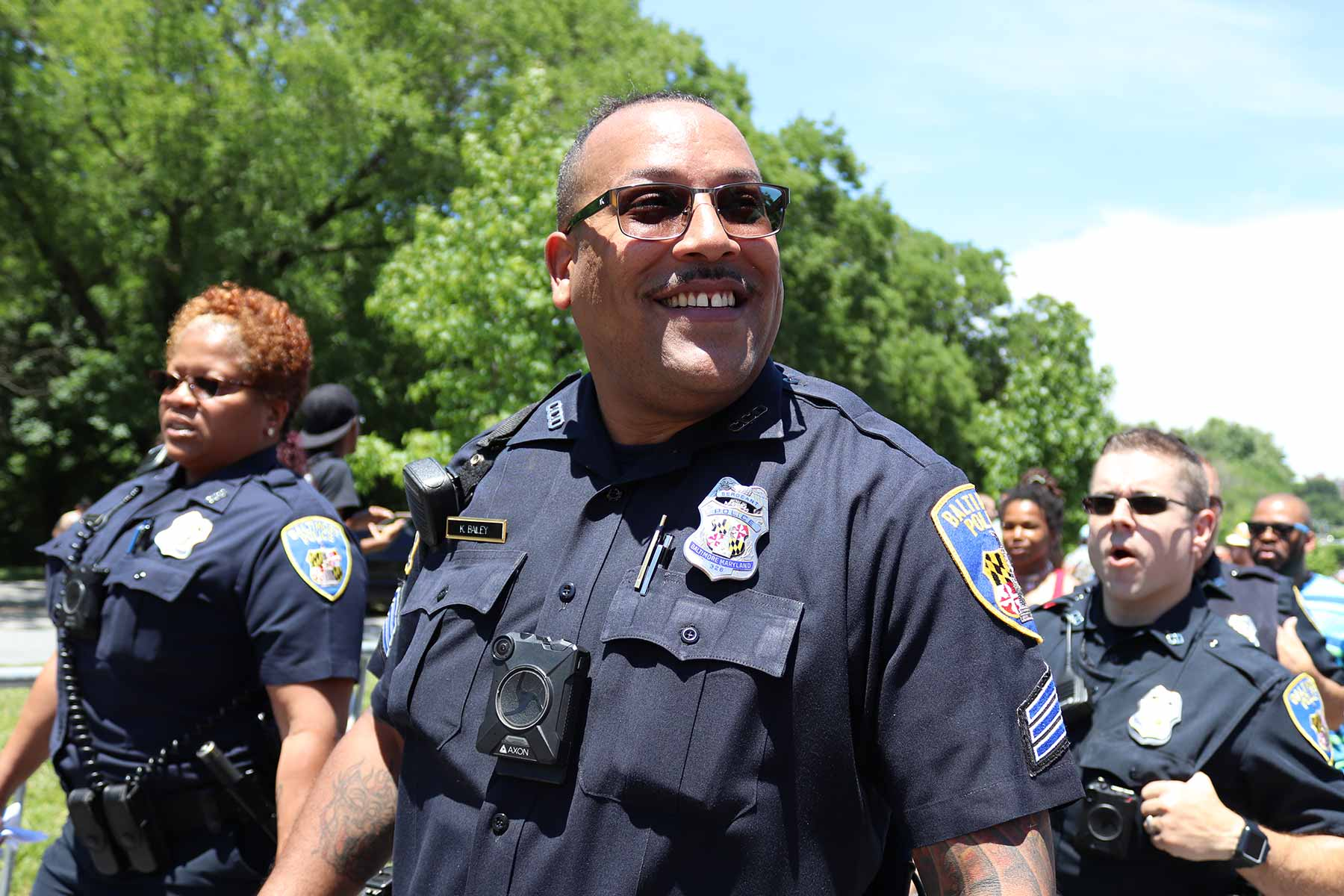 African American Baltimore police officers