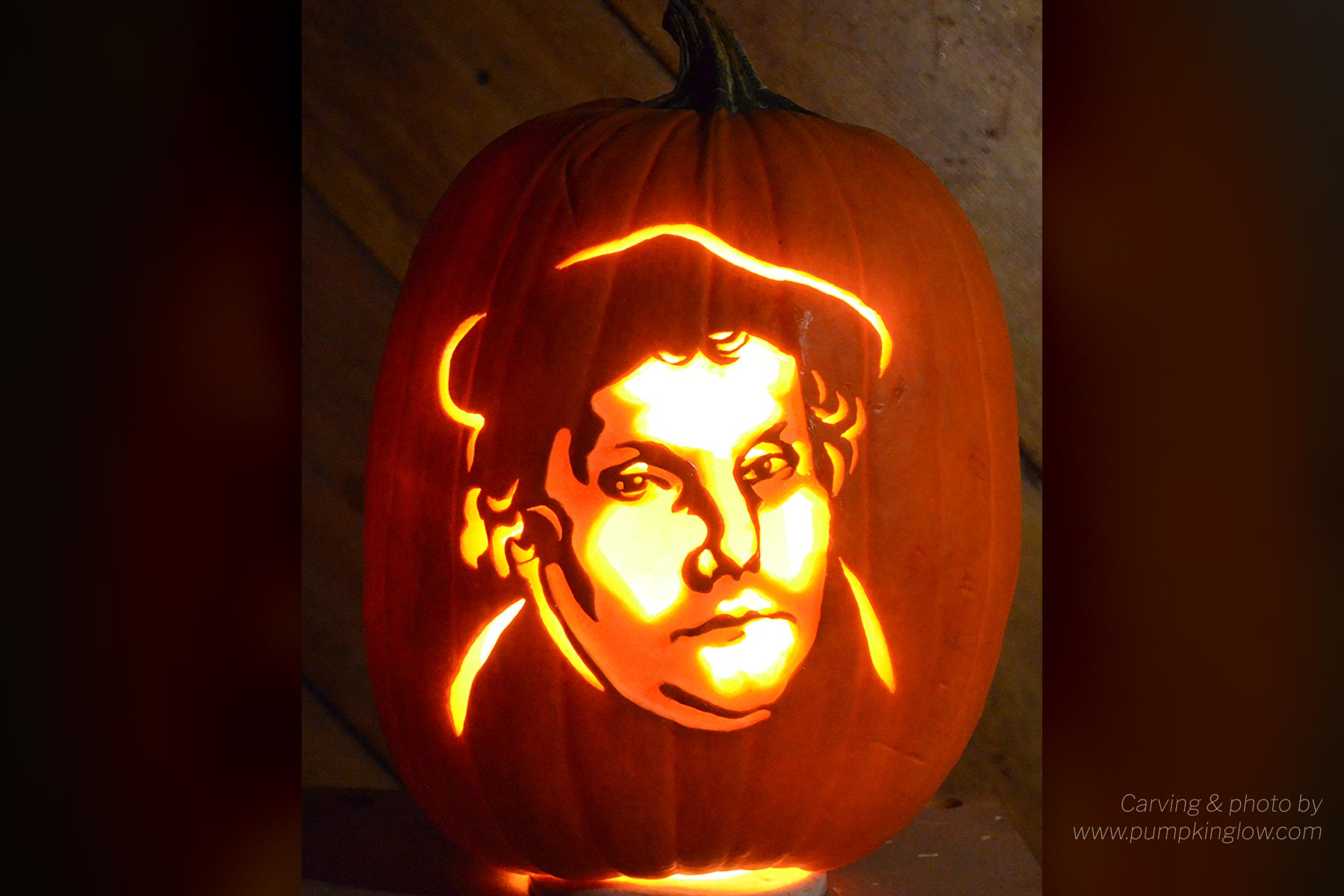 a Christian perspective of Halloween Martin Luther jackolantern