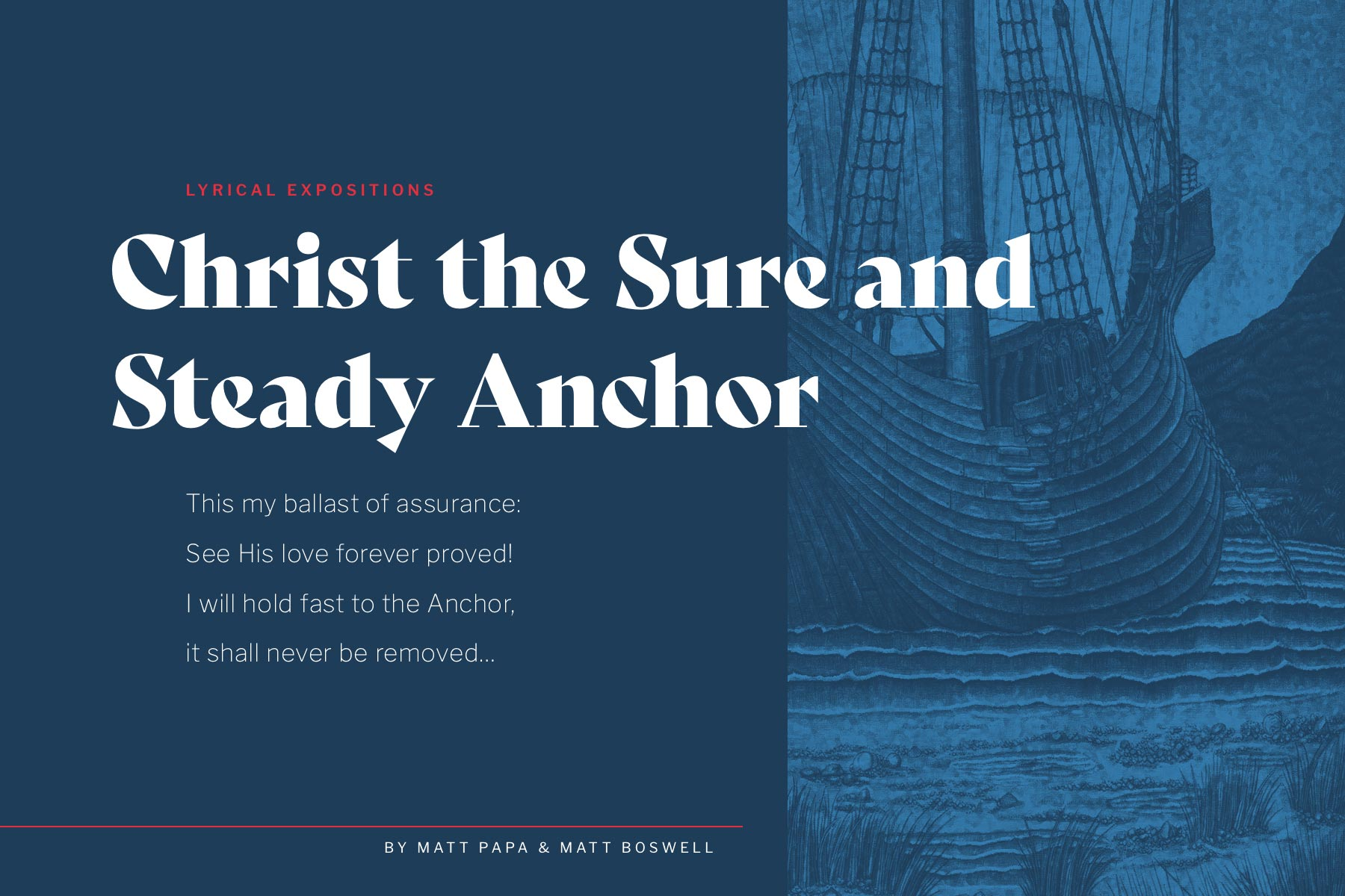 hymn Christian music exposition cover Christ the Sure and Steady Anchor